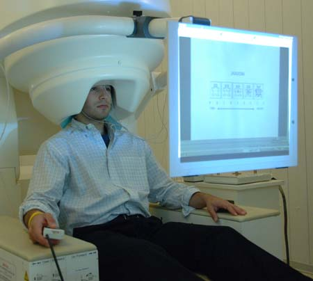 Patient in MEG-Scanner